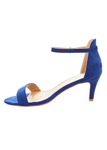 2dfc259ee78 Charles Albert Wide Width Heels Tia Pump Sandal (11 W US, Cobalt)