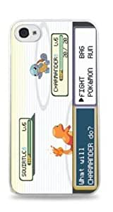 Pokemon Battle Charmander v Squirtle Apple iPhone 5 Silicone White case - 197
