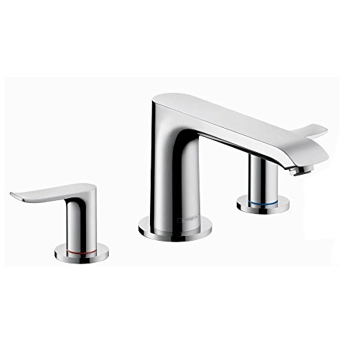 Chrome Roman Tub Set (Hansgrohe 31440001 Metris 3-Hole Roman Tub Set Trim, Chrome)