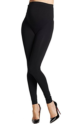 Preggo Leggings Women's Mom's Night Out Maternity Leggings L/XL Black