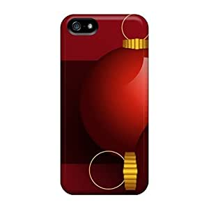 Hot Tpye Christmas Red Globes Holiday Case Cover For Iphone 5/5s