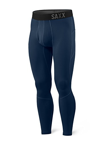 SAXX Underwear Men's Thermoflyte Tight Fly Navy with BallPark Pouch Large