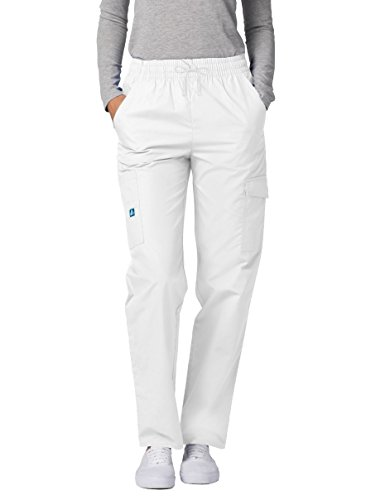 - Adar Universal Natural-Rise Multipocket Cargo Tapered Leg Pants Twill Petite - 506PTWL - White - L