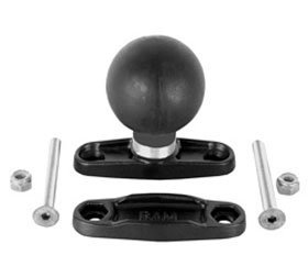 RAM MOUNTS (RAM-D-247U-25 2.5'' Max Width Clamp Base with 2.25'' Diameter Ball