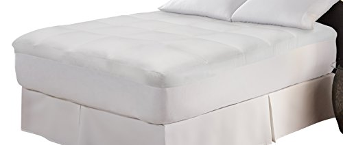 WellRest 862659 Pin Stripe Mattress Pad with Neverwet, Full, White (Striped Cap Pinstripe)