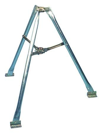 3' Tripod with Pitch Pads and Lag -