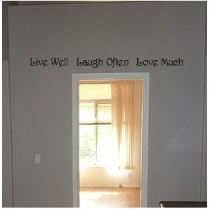 Live Well Laugh Often Love Much Vinyl Wall Art Sayings Decor Lettering Kitchen