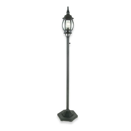 Royce Lighting RL9196BK Outdoor Portable Post Lantern Black with Clear Globe (Post Lantern Portable)