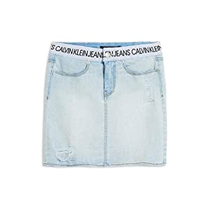 Calvin Klein Big Girls' Denim Skirt