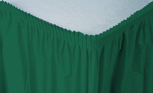 Green Plastic Table Skirt - 2