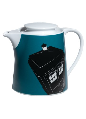 Doctor Who Tardis Design Boxed Teapot from BBC Worldwide (Teapot Doctor Who)