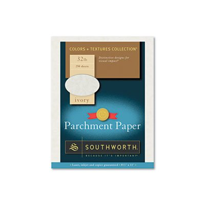 (Parchment Specialty Paper, Ivory, 32 lbs., 8-1/2 x 11, 250/Box, Sold as 1 Box)