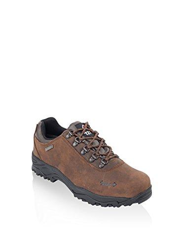 Izas-Fons chaussures en cuir souple pour homme Marron