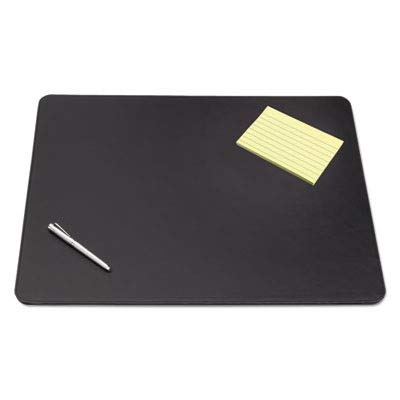 - ArtisticTM - Westfield Designer Desk Pad w/Decorative Stitching, 36 x 20, Black - Sold As 1 Each - Fine-Grain Leatherette Vinyl for unsurpassed Writing Surface.