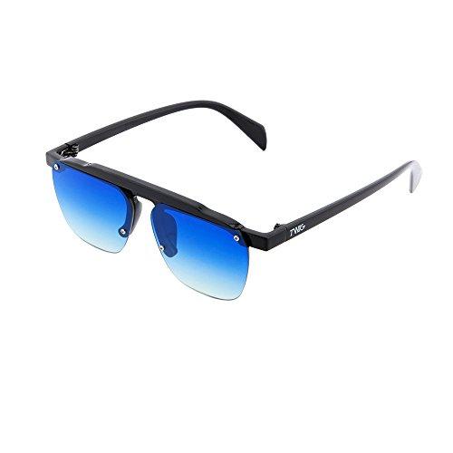 hombre sol Azul FOUCAULT espejo degradadas mujer Negro Gafas Degradado TWIG de 5YpfqWxa