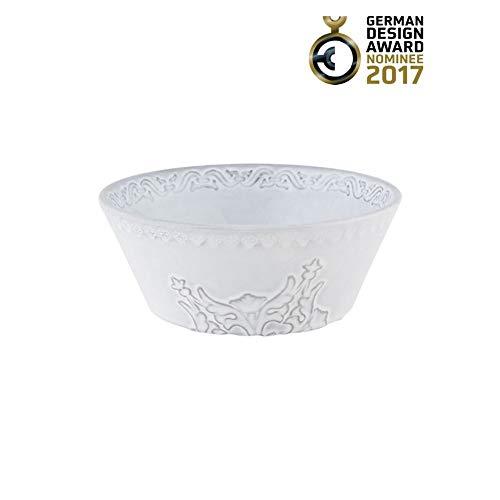 Bordallo Pinheiro Rua Nova Cereal Bowls, Antique White, Set of 4
