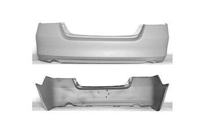 PAINTED REAR BUMPER COVER HONDA ACCORD 06-07 - Taffeta White - (Taffeta White Honda Accord)