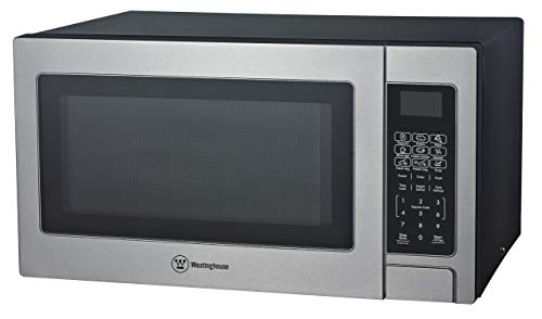 Westinghouse Stainless Steel Countertop Microwave Oven, 1,000-Watt, 1.1-Cubic Feet