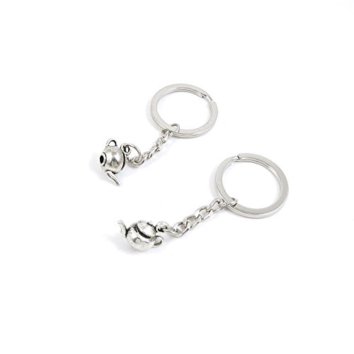 20 Pieces Fashion Jewelry Keyring Keychain Door Car Key Tag Ring Chain Supplier Supply Wholesale Bulk Lots X6QY8 Teapot Tea Kettle Pot