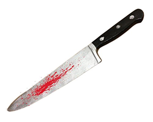 Bloody Kitchen Knife , Myers style, Realistic , Movie Prop , Halloween, (Bloody Scream Mask Halloween)