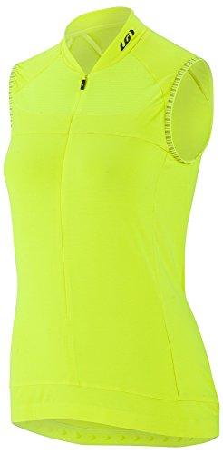 Louis Garneau Women's Beeze 2 Sleeveless, Moisture Wicking, Full Zip Cycling Jersey, Bright Yellow, Large