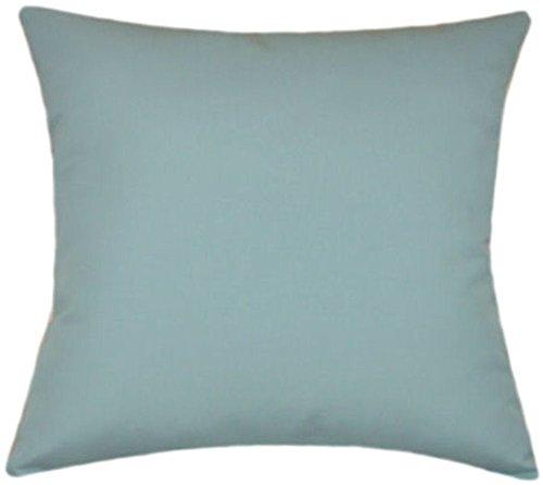 TPO Design Sunbrella Mineral Blue Indoor/Outdoor Solid Patio Pillow 20x20