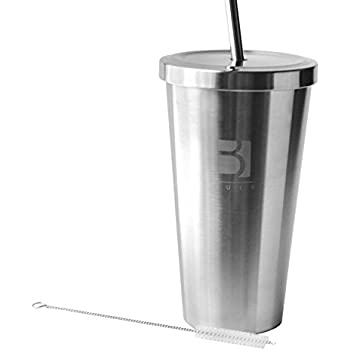 Amazon Com Buirstory Stainless Steel Cold Drink Tumbler