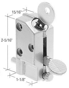C.R. LAURENCE S4046 CRL Aluminum Keyed Step-On Door Lock