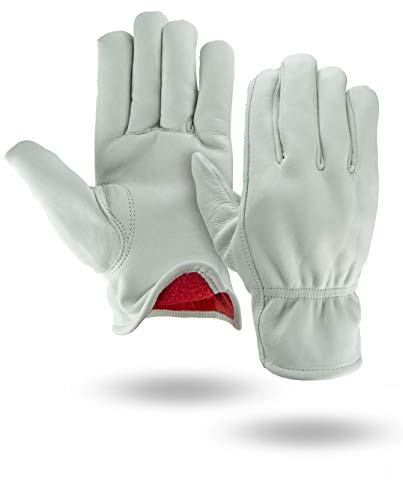 white insulated gloves - 1