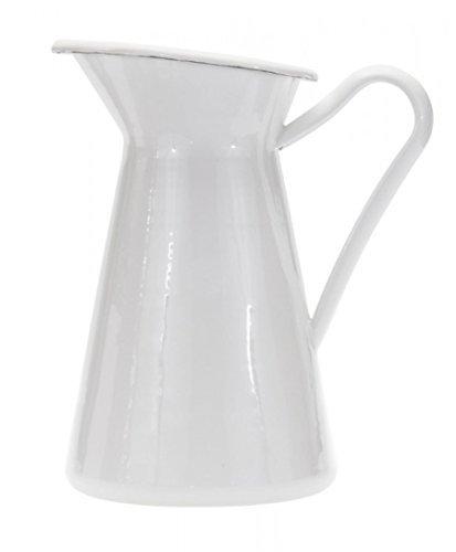 Golden Rabbit Enamelware Solid White Pitcher or Vase by Golden Rabbit