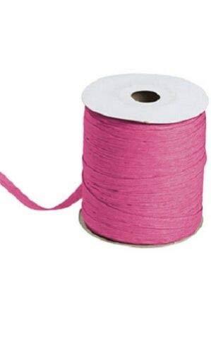 Fuchsia Pink Matte Raffia Ribbon Gift Wrap Wedding 1/2'' Wide 500 Yards Bow by retail-warehouse