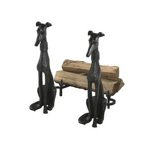 "Cyan Lighting 01855 24"" Dog Andiron - Set of 2, Canyon Bronze Finish"