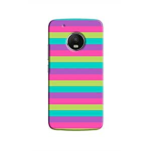 Cover It Up - Pink,Green&Cyan Moto G5Hard Case