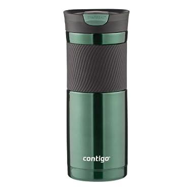 Contigo SnapSeal Byron Vacuum Insulated Stainless Steel Travel Mug, 20oz, Greyed Jade
