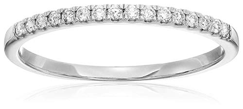 Vir Jewels 1/5 cttw Diamond Wedding Band Prong Set 14K White Gold Size 4.5