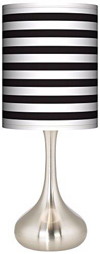 Black Horizontal Stripe Giclee Droplet Table Lamp (Horizontal Stripe Giclee Shade)