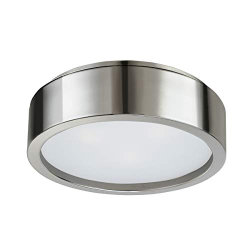 (Sonneman 3722-35 3722.35 Transitional Three Light Surface Mount from Puck Collection in Polished Nickel Finish, 15