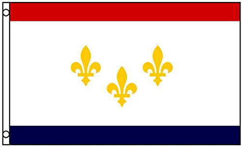 New Orleans Louisiana Flag Polyester 3 x 5 Foot 3x5 Mardi Gr