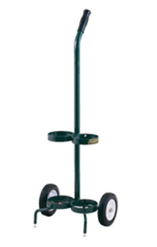 Harper Trucks MG-DEB21 38-Inch High by 14-Inch Wide Small Oxygen 2-Tank Hand Truck with 6-Inch Semi-Pneumatic Wheels Small Cylinder Cart