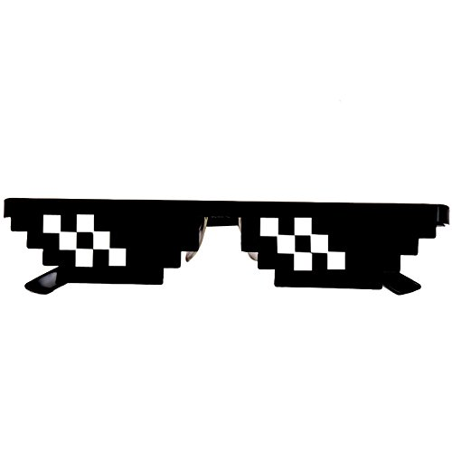 Mromick Thug Life Glasses 8 Bit Pixel Deal With IT X 2 Sunglasses Unisex Sunglasses - Bit Sunglasses 8