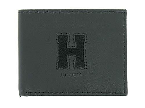 Tommy Hilfiger Men's Black Leather | ID Holder | Bi-Fold Wallet