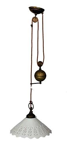 Lámpara de techo de latón con Catenae contrappeso Sali/Scendi y ...