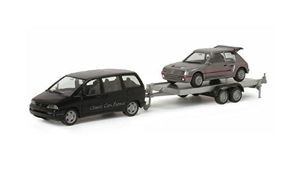 Herpa 023481 Peugeot 806 con remolque, Peugeot 205 Turbo: Amazon.es: Juguetes y juegos