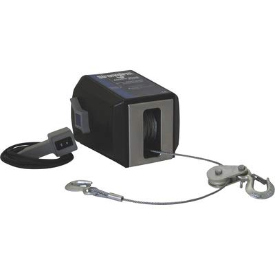 (Dutton-Lainson StrongArm 12V DC Electric Winch with Remote - 4500-Lb. Capacity, Model# SA12015DC)
