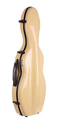 Tonareli Cello-shaped Fiberglass Violin Case - Yellow 4/4 VNF1006 [並行輸入品]   B07GTVHV6L