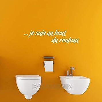 Franzosisch Lustig Je Suis Au Bout Du Rouleau Wc Wandtattoo