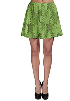 CowCow Women's Fashion Skirt Leaves Repeating Pattern Skater Skirt