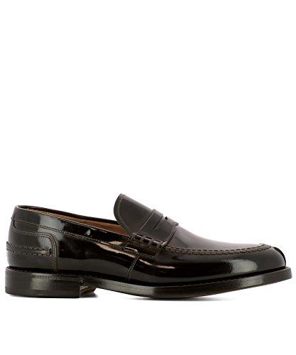 Fabi Men's FU7740OSSIGENOARMY Brown Leather Loafers