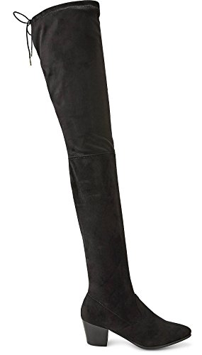 e1b07659192c61 Buffalo Damen Overknee Stiefel Stretch Boots Langschaft Schwarz BB2001 EU 38