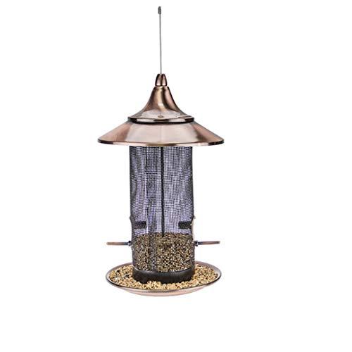 BLRYP Wild Bird Seed Feeder Hanging Bird Feeder, Wall Mounted Wooden Wild Bird Table Feeder Nut,Fat Ball,Cage,Garden
